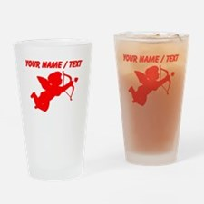 Custom Red Cupid Silhouette Drinking Glass