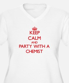 Keep Calm and Party With a Chemist Plus Size T-Shi