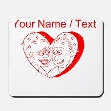 Custom Red Couple In A Heart Mousepad