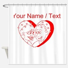 Custom Red Couple In A Heart Shower Curtain