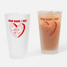 Custom Red Couple In A Heart Drinking Glass