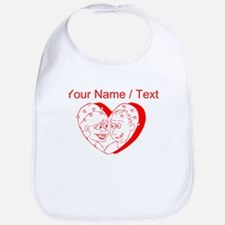 Custom Red Couple In A Heart Bib