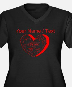 Custom Red Couple In A Heart Plus Size T-Shirt