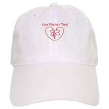 Custom Red Broken Heart Baseball Baseball Cap