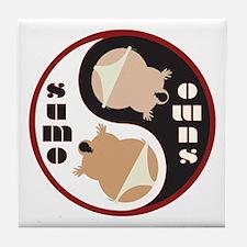 Yin Yang SUMO Tile Coaster