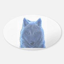 Wolf Neon Blue Decal