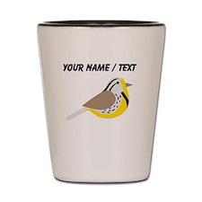 Custom Meadowlark Bird Shot Glass