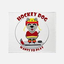 Girls' Ice Hockey Throw Blanket