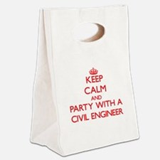 Keep Calm and Party With a Civil Engineer Canvas L