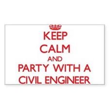 Keep Calm and Party With a Civil Engineer Decal