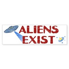 Aliens Exist Bumper Sticker