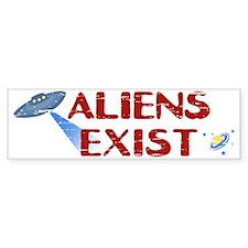 Aliens Exist Bumper Sticker