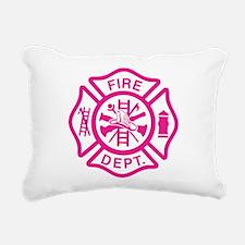 Funny Fire fighter Rectangular Canvas Pillow