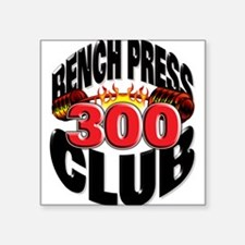 BENCH PRESS 300 CLUB Oval Sticker