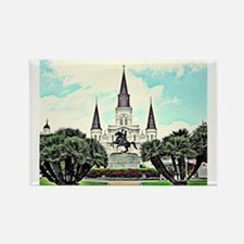 jackson square #1 Rectangle Magnet