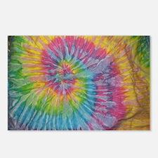 rainbow aura twirl tiedye Postcards (Package of 8)