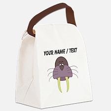 Custom Cartoon Walrus Canvas Lunch Bag