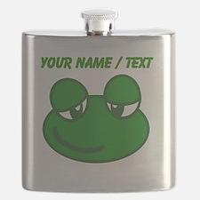 Custom Cartoon Frog Flask