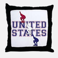 USA Speedskating Throw Pillow