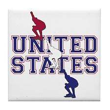 USA Speedskating Tile Coaster