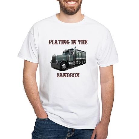 Playing in the Sandbox White T-Shirt