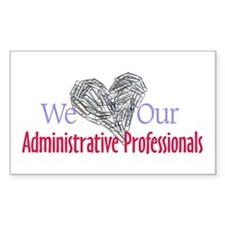 Administrative Professionals Rectangle Decal