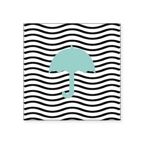 Aqua Umbrella Waves Sticker