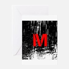 Industrial Style Monogram Greeting Cards
