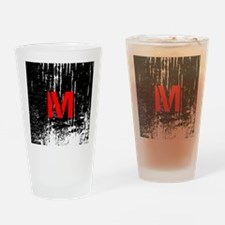 Industrial Style Monogram Drinking Glass