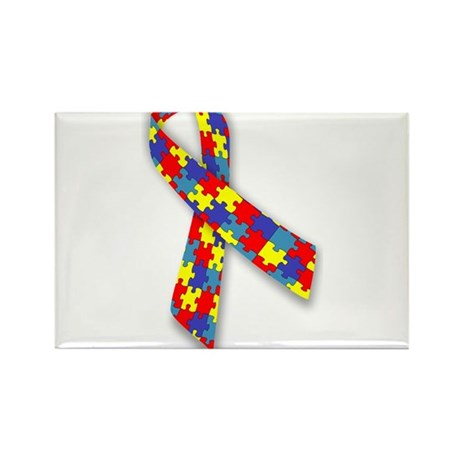 Autism Awareness Ribbon Magnets