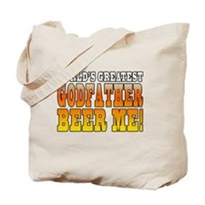 Worlds Greatest Godfather  Beer Me Tote Bag