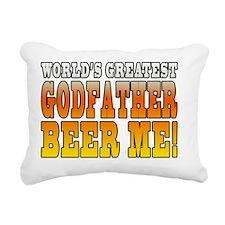 Worlds Greatest Godfathe Rectangular Canvas Pillow