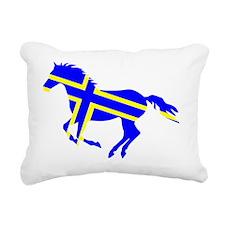 Sweden Horse Rectangular Canvas Pillow