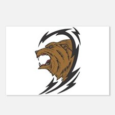 Tribal Grizzly Bear Design Postcards (Package of 8