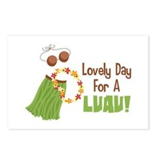 Lovely Day For A Luau! Postcards (Package of 8)