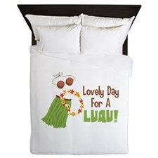 Lovely Day For A Luau! Queen Duvet