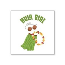 Hula Girl Sticker