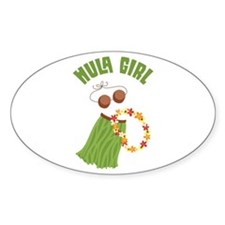 Hula Girl Bumper Stickers
