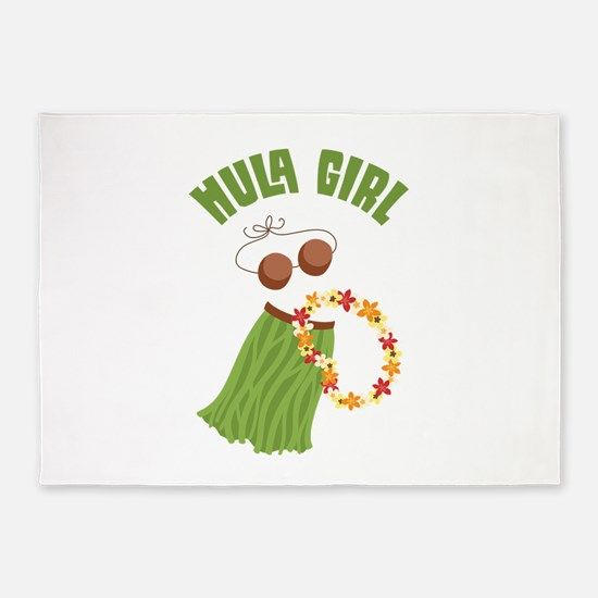 Hula Girl 5'x7'Area Rug