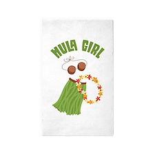 Hula Girl 3'x5' Area Rug