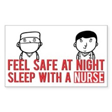 Feel Safe at Night..Sleep With Bumper Stickers