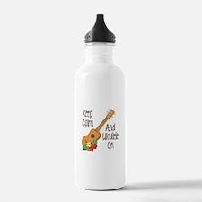 keep Calm And Ukulele On Water Bottle