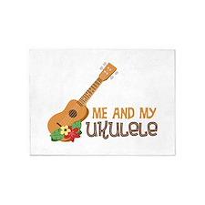 Me And My Ukulele 5'x7'Area Rug