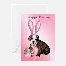 Cute Easter Bulldog Pup Greeting Cards (Pk Of 20)