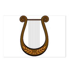 Irish Decorative Harp Postcards (Package of 8)