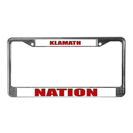 Klamath Nation License Plate Frame