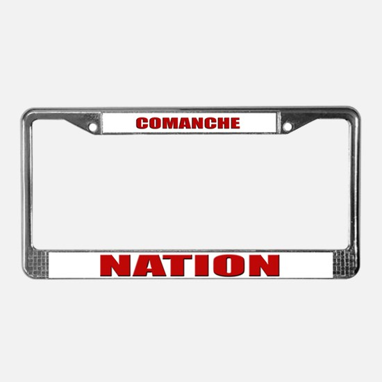 Comanche Nation License Plate Frame