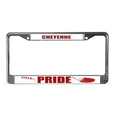 Cheyenne Pride License Plate Frame
