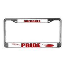 Cherokee Pride License Plate Frame