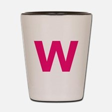 Letter W Pink Shot Glass